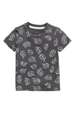 Printed T-shirt - Dark grey - Kids | H&M CA 1