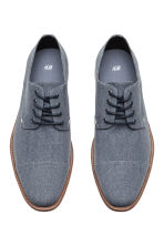 Cotton canvas Derby shoes - Grey-blue - Men | H&M 2