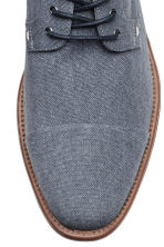 Cotton canvas Derby shoes - Grey-blue - Men | H&M 3