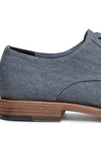 Cotton canvas Derby shoes - Grey-blue - Men | H&M 4