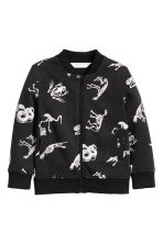 Sweatshirt jacket - Black/Dinosaurs - Kids | H&M 2
