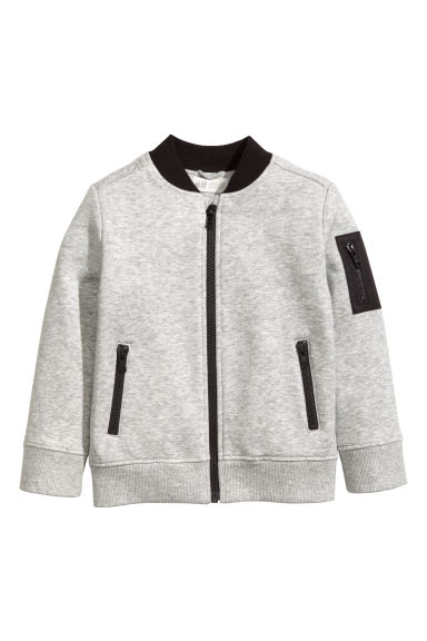 Sweat zippé - Gris chiné - ENFANT | H&M FR 1