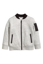 Sweatshirt jacket - Grey marl - Kids | H&M 1