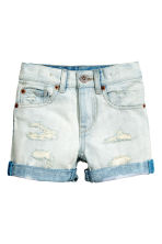 T-shirt and denim shorts - Pale denim blue - Kids | H&M CN 3
