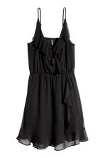 Flounced wrap dress - Black - Ladies | H&M 2