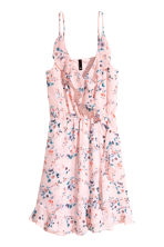 Flounced wrap dress - Light pink/Floral - Ladies | H&M 2