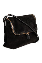 Suede shoulder bag - Black - Ladies | H&M CN 2