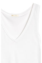 V-neck jersey top - White - Ladies | H&M CN 4