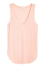 V-neck jersey top - Powder pink - Ladies | H&M CN 2