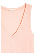 V-neck jersey top - Powder pink - Ladies | H&M CN 3