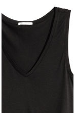V-neck jersey top - Black - Ladies | H&M CN 3