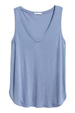 V-neck jersey top - Blue - Ladies | H&M 2