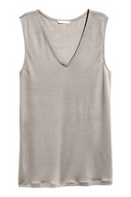 Lyocell top - Mole - Ladies | H&M CN 2