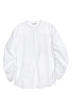 Cotton shirt with drawstrings - White - Ladies | H&M 2