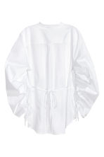 Cotton shirt with drawstrings - White - Ladies | H&M 3