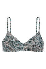 Bikini top - Petrol/Patterned - Ladies | H&M CN 2