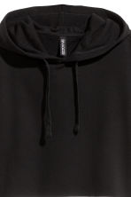 Short hooded top - Black - Ladies | H&M CN 3
