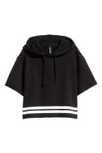 Short hooded top - Black - Ladies | H&M CN 2