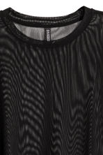 Cropped mesh T-shirt - Black - Ladies | H&M 3