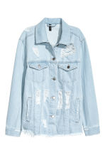 Trashed denim jacket - Light denim blue - Ladies | H&M CN 2