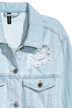 Trashed denim jacket - Light denim blue - Ladies | H&M CN 4