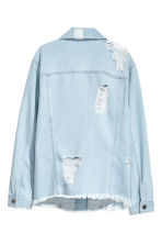 Trashed denim jacket - Light denim blue - Ladies | H&M CN 3