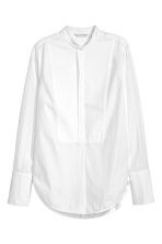 Textured cotton shirt - White -  | H&M 1