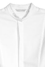 Textured cotton shirt - White - Ladies | H&M CN 3