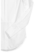 Textured cotton shirt - White - Ladies | H&M CN 2