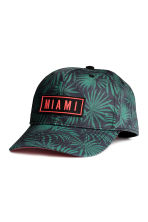 Cotton cap with an appliqué - Black/Miami - Kids | H&M CN 1
