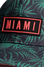 Cotton cap with an appliqué - Black/Miami - Kids | H&M 3