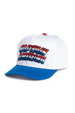 Cotton cap with embroidery - White/Captain America - Kids | H&M 1