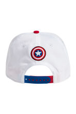 Cotton cap with embroidery - White/Captain America - Kids | H&M 2