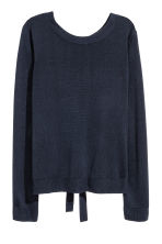 Jumper with ties - Dark blue -  | H&M 2