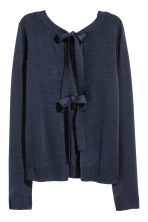 Jumper with ties - Dark blue -  | H&M 3