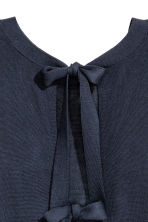 Jumper with ties - Dark blue -  | H&M 4