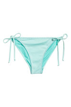 Tie tanga bikini bottoms - Light turquoise - Ladies | H&M 2