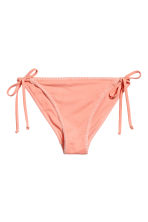 Tie tanga bikini bottoms - Apricot - Ladies | H&M 2