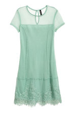 Lace dress - Pistachio green - Ladies | H&M CN 2