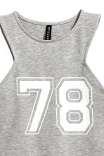 Cropped jersey vest top - Grey marl - Ladies | H&M CN 3