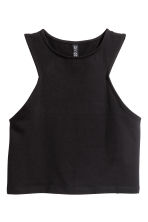 Cropped jersey vest top - Black - Ladies | H&M 2