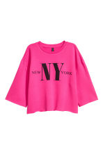 Cut-off sweatshirt - Cerise - Ladies | H&M CN 2