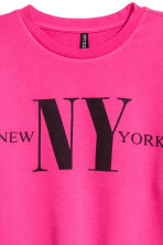 Cut-off sweatshirt - Cerise - Ladies | H&M CN 3