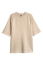 Short-sleeved sweatshirt - Beige - Men | H&M 2