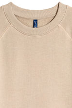 Short-sleeved sweatshirt - Beige - Men | H&M 3