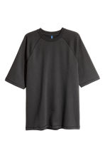 Short-sleeved sweatshirt - Black - Men | H&M CN 2