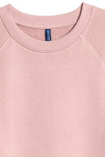 Short-sleeved sweatshirt - Pale pink - Men | H&M CN 3