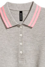 短版網眼Polo衫 - Grey marl - Ladies | H&M 3