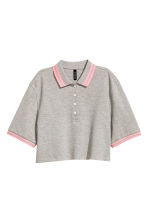 短版網眼Polo衫 - Grey marl - Ladies | H&M 2