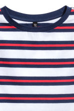 Short jersey top - Blue/White striped - Ladies | H&M CN 3
